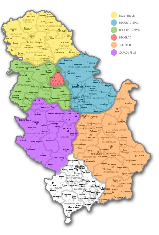 mapa republike srbije Mapa i kontakti prodajnih centara – Kontakt – O nama — Frikom mapa republike srbije