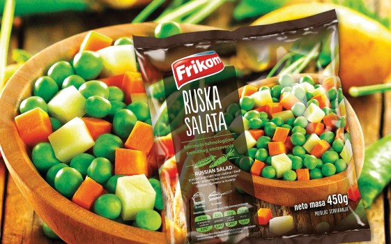 Mixed vegetables for russian salad